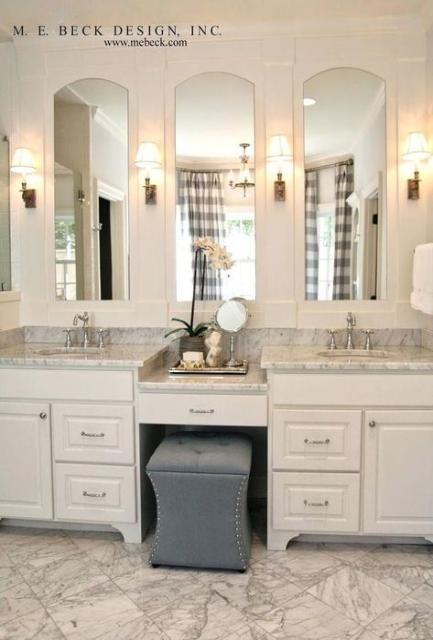 67 Ideas Bathroom Vanity With Makeup Area Farmhouse Double Vanity Bathroom Bathroom Remodel Master Modern Master Bathroom