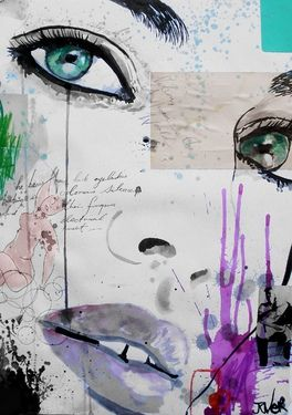 "Saatchi Online Artist Loui Jover; Mixed Media, ""the rhythm of dreams"" #art"