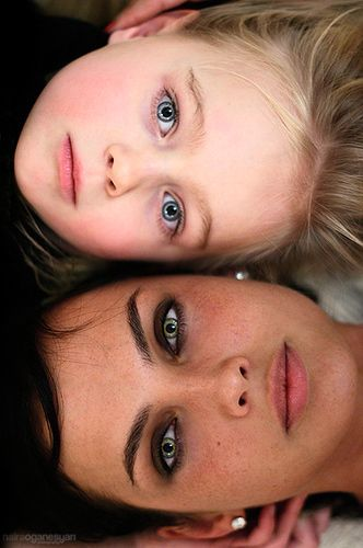 mother-daughter  Time lapse idea! This beautiful photo captures mom and daughter—and all of their similarities. Take the same picture every year and see how the both of you change over time.