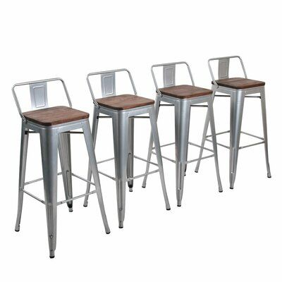 Williston Forge Saleh 26 Bar Stool Color Silver Seat Height