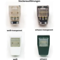Top Light Pluglight Flex Nickel 30 cm, Stecker weiß-transparent Flexlight 30,00 cm, Stecker weiß-tra