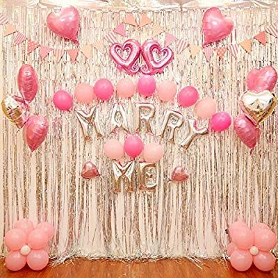 3 Packs Foil Curtains Silver Metallic Shimmer Tinsel Fringe Curtains Tassel For Wedding Birthday P Valentines Party Decor Valentines Balloons Party Decorations