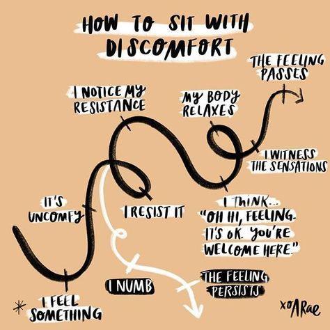 sit with discomfort