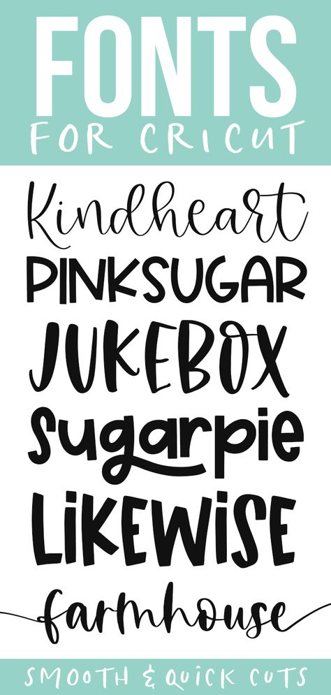 Cute cricut fonts for smooth and quick cuts! These fonts are perfect for all of your svg designs, shirts, signs and more! Cute Fonts, Fancy Fonts, Fun Free Fonts, Silhouette Cameo 4, Silhouette Projects, Cricut Fonts, Cricut Vinyl, Free Fonts For Cricut, Circuit Projects