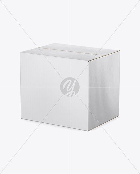 Download Cardboard Box Mockup Half Side View High Angle Shot In Box Mockups On Yellow Images Object Mockups Box Mockup High Angle Shot Cardboard Box