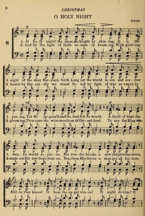 Hymn Challenge O Holy Night Words Written by: Placide Cappeau b. August 1877 Placide Cappeau was a Fre. Christmas Carol, Vintage Christmas, Christmas Diy, Xmas, Vintage Sheet Music, Vintage Sheets, Old Sheet Music, Piano Sheet, Sheet Music Crafts