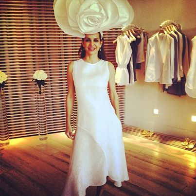 Get in full bloom at the gorgeous linen store 100% Capri! We are obsessing  over this giant rose hat and matching dress made of the most luxurious l