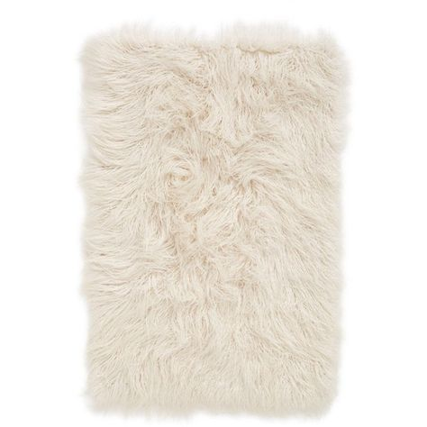 Nordstrom At Home 'Mongolian' Faux Fur Area Rug ($59) ❤ liked on Polyvore featuring home, rugs, ivory, beige area rugs, cream rug, faux fur rugs, ivory rug and off white rug