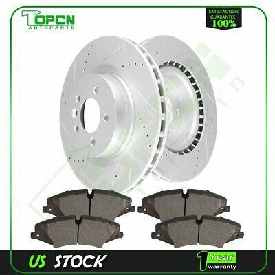 2X Front Brake Discs Rotors and 4X Ceramic Pads For Honda Civic 2012-2013