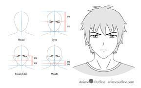 Anime Male Serious Facial Expression Face Drawing Anime Facial Expressions Drawing