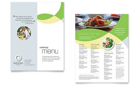 Poster template design for a frozen yogurt shop by StockLayouts - free brochure templates for word 2007