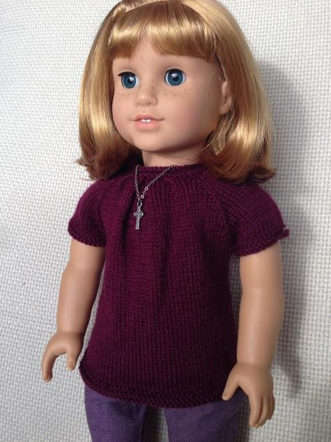 Looking for your next project? You're going to love American Girl Doll Knit Tunic Pattern by designer lepoisson1321080.