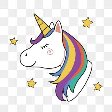 Unicorn Head With Rainbow Mane And Horn Unicorn Clipart Unicorn Head Png And Vector With Transparent Background For Free Download Image Clipart Arc En Ciel Dessin Fond De Dessin Anime