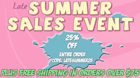 Summer Sales Event 2013 - 25%off SITEWIDE! plus free shipping ALL orders over $75.00 - @NanyCrafts www.nanycrafts.com