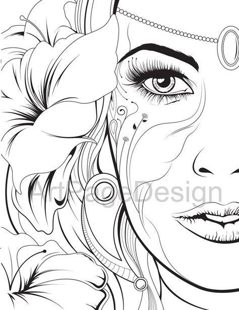 Coloring Pages. Сoloring Books For Adults. Abstraction. PDF, JPG. Cartoon  Coloring Pages, Coloring Pages For Grown Ups, Coloring Pages