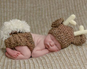 Baby Shower Gift Boy Baby Picture Outfit Woodland Baby Boy Baby Deer Hat Newborn Photo Outfit Baby Deer Outfit Baby Hats for Boys