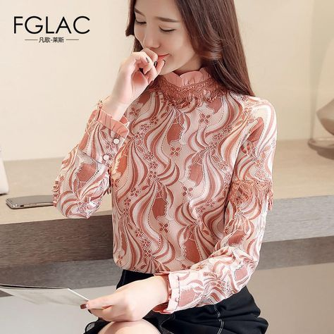 7334ebe46ed44 FGLAC Women Autumn winter lace shirt Fashion casual long sleeve Women  blouse shirt Thick Warm velvet shirt plus size blusas. Yesterday s price   US  22.08 ...