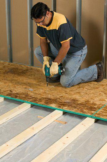How To Install Framing For Sleeper Floors Flooring Floor Framing Basement Subfloor