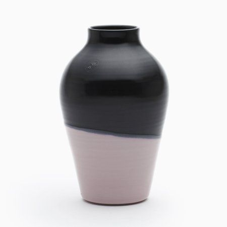 Tall Vase In Sakura Pink Black By Asahiyaki Tall Vases Vase Pink