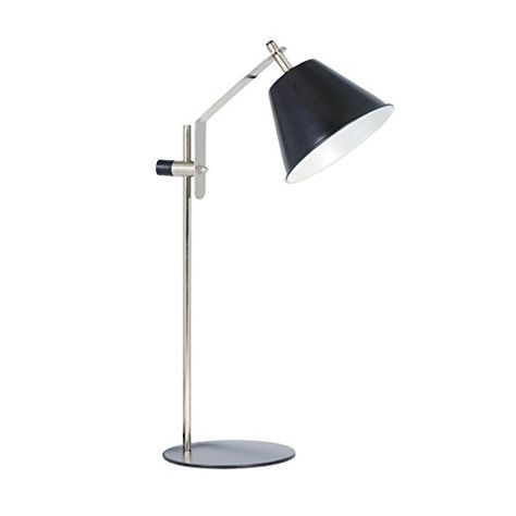 14e9f59ec7d Aurelle Home Mid Century Modern Classic Scandinavian Antique Nickel Table  Lamp >>> Click for Special Deals