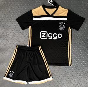 best service ac4b6 294aa 2018 Cheap Youth Kit Ajax Away Replica Black Suit [CFC71 ...