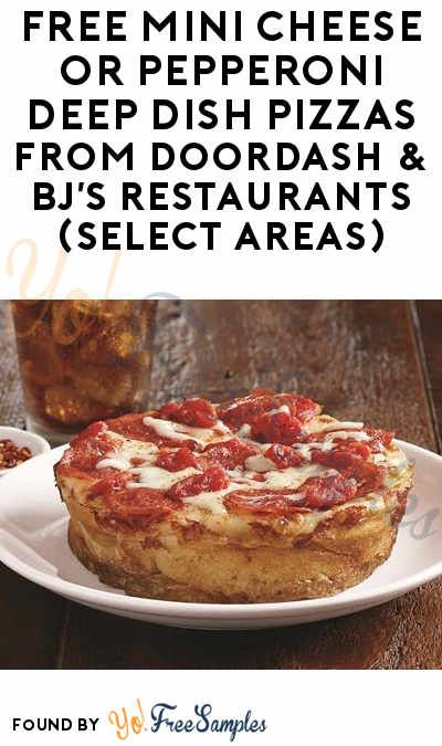FREE Mini Cheese or Pepperoni Deep Dish Pizzas From DoorDash