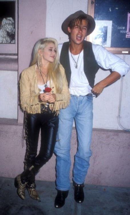 Brad Pitt & Elizabeth Daily, 1989