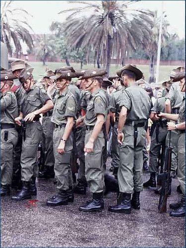 3 Rar At Torrens Parade Ground After Their March Through Adelaide Vietnam War Vietnam War Photos Anzac Soldiers