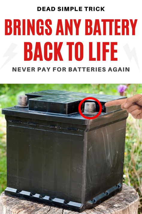 ➡[Video] Bring Those Old Batteries Back To Life Again-Just Like New! It's time to do something about rising electricity bills? And have a backup plan for power outages? We all know batteries are expensive and prices keep going up. The average family is spending more and more of their hard-earned money each month on all kinds of batteries... But it doesn't have to be like this because there is a better way! Take This fast quiz to find out!🔋