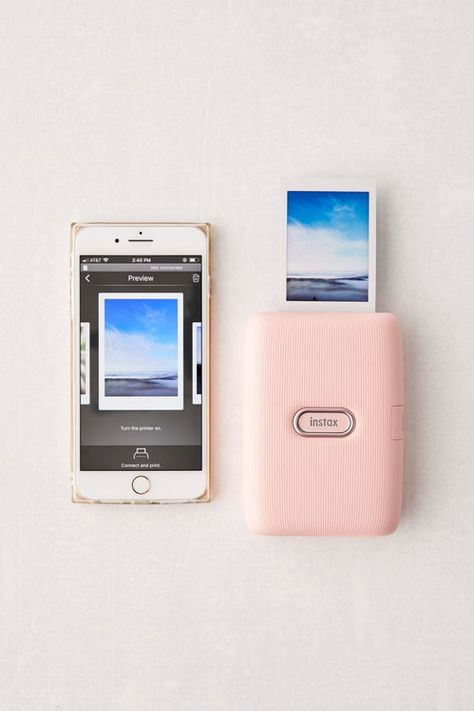 Print your fave digital pics to turn your most-liked into IRL memories with this smartphone printer by Fujifilm. Edit your favorite shots with filters and more before printing them on Instax Mini film - sold separately. Polaroid Printer, Smartphone Printer, Smartphone Hacks, Instax Printer, Iphone Photo Printer, Portable Printer, Instax Mini Film, Fujifilm Instax Mini, Polaroid Instax Mini