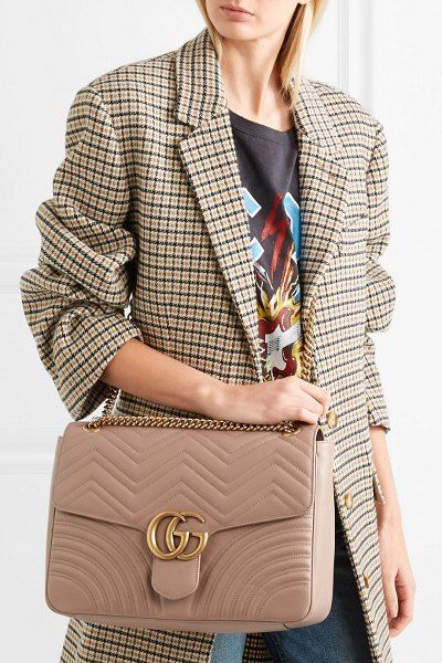 d15585419 Gucci Gg Marmont Large Quilted Leather Shoulder Bag in 2019 | Bags ...