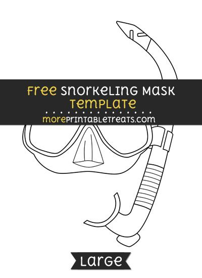 Free Snorkeling Mask Template Large With Images Mask