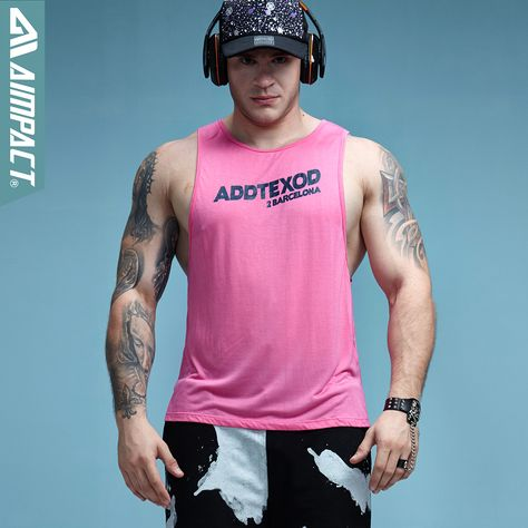 38743d09af96 Aimpact Fitness Mens Tank Tops Sexy Bodybuilding Clothing Low Cut Armholes Activewear  Summer Singlets Crossfit Workout Tops