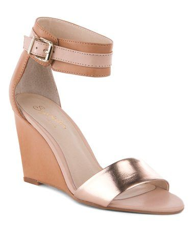 98c56d64dae9 Love this Rose Gold   Nude Dreamy Leather Sandal - Women on  zulily!   zulilyfinds