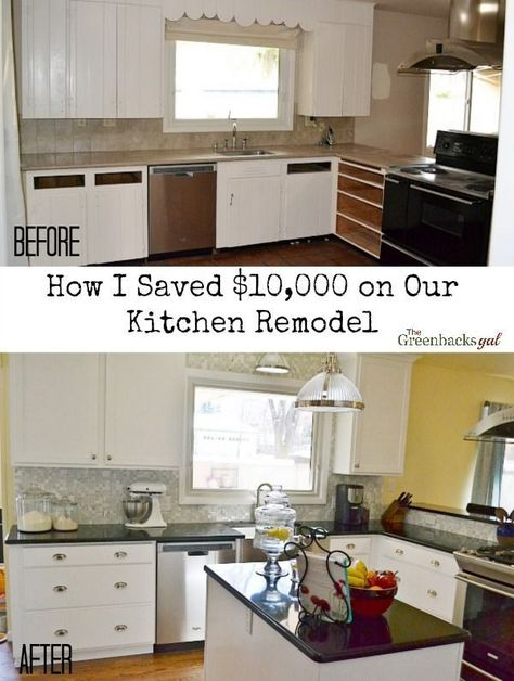 kitchen remodel before and after on a budget | Kitchen Remodeling ...