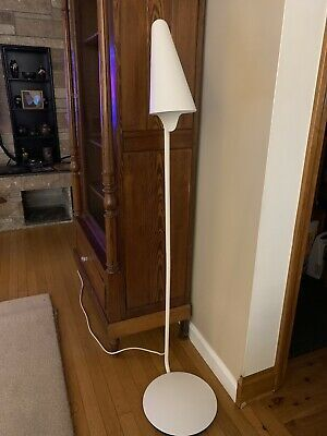 Details About Ikea Stockholm Skinny Floor Lamp White Cone Led