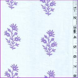 White/Purple Floral Lawn