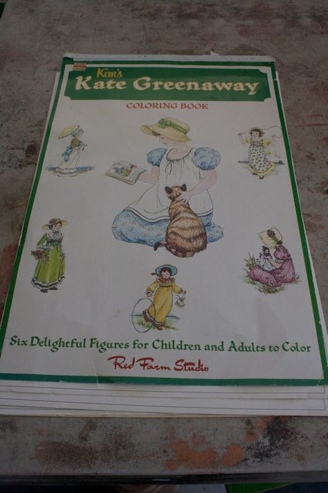 Vintage and Rare Kim\'s Kate Greenaway Coloring Book | Etsy ...