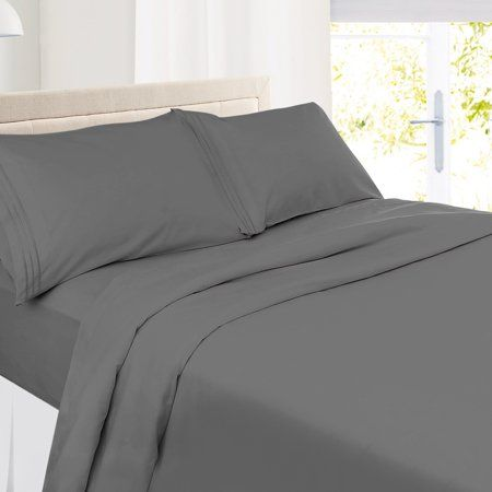 King Size Clara Clark Premier 1800 Collection Deluxe Microfiber 3-Line Bed Sheet Set Striped