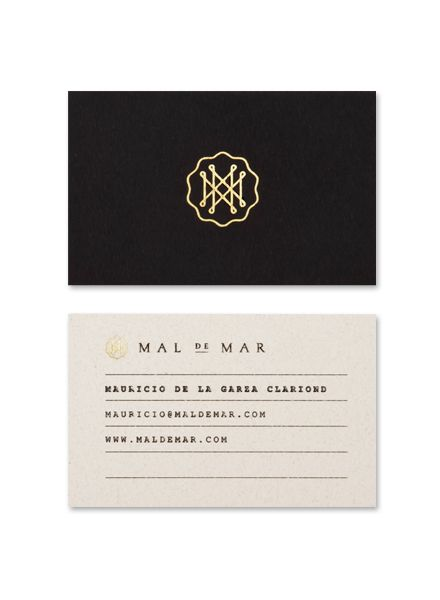As part of a larger identity and branding project, Face, a design studio based in Monterrey, Mexico, created this beautiful typographic logo design/monogram for Mal de Mar