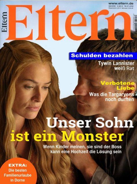#GameofThrones as Magazines