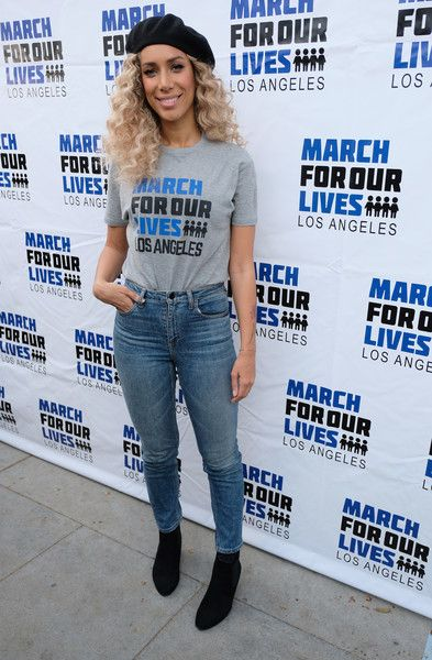 Singer Leona Lewis participates in the March for Our Lives Los Angeles rally on March 24, 2018 in Los Angeles, California.