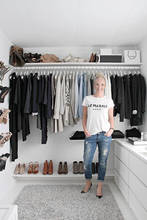 Walk in closet, wardrobe, Nina Holst stylizimo