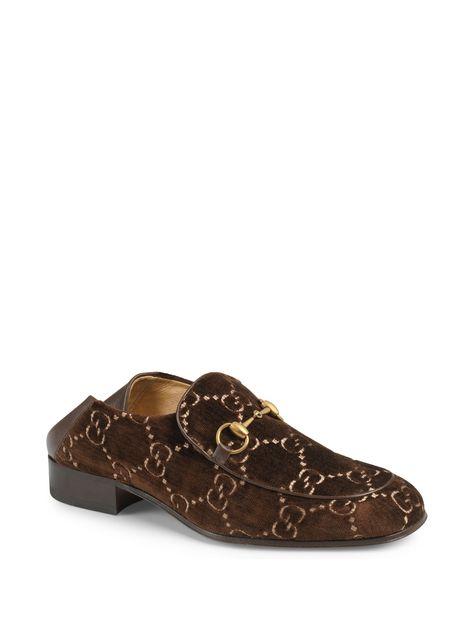 90dc5622481 Gucci Mister GG Velvet Horsebit Loafers