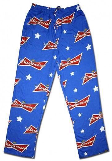 Budweiser Sleep Lounge Pants PJs S M L XL 2XL XXL Retro Beer Label