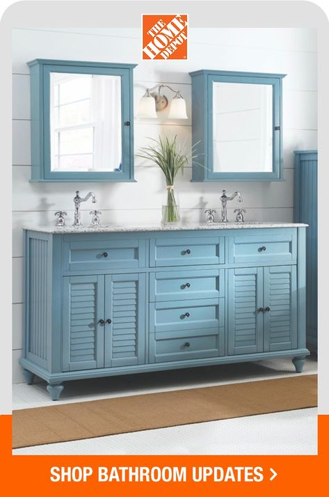 The Home Depot has all the tips, tools and decor you need to refresh your bathroom. All your bath needs, all in one place. Click to get started on your remodel with help from The Home Depot.