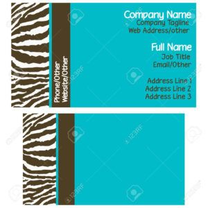Brown Blue Zebra Business Cards Pertaining To Kinkos Business Card Template Business Card Template Card Template Business Template