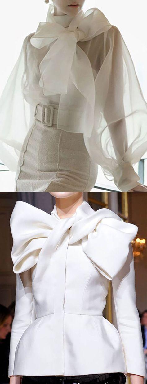 Women Bow Belted Elegant Shirts