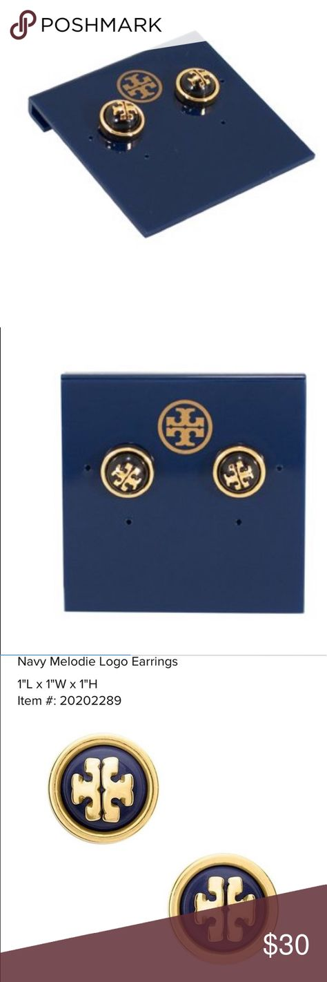 7da57ad9adc9ad Tory Burch Melodie Pearl Logo Stud Earrings New Tory Burch Melodie Pearl  Logo Stud Earrings Color