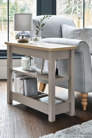 Buy Malvern Dove Grey Sofa Side Table From The Next Uk Online Shop In 2020 Sofa Side Table Living Room Side Table Table Decor Living Room